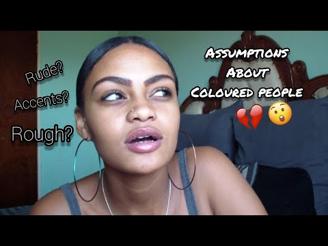 Assumptions about coloured people! | South African YouTuber
