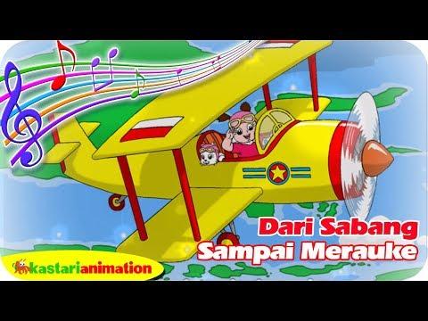 DARI SABANG SAMPAI MERAUKE (Lagu Nasional Indonesia) | Kastari Animation Official
