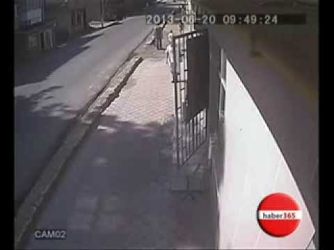 Güvenlik Kamerasındaki Korkunç Kaza !!!