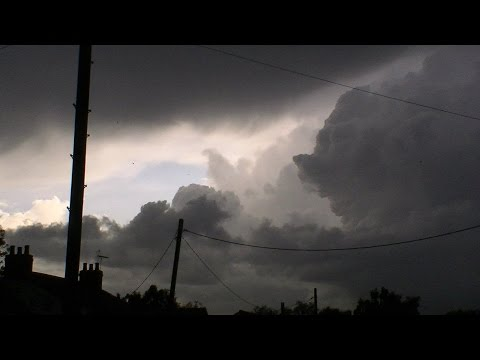 lightening storm flooding rain at Louth lincs uk i filmed on 03/05/2015