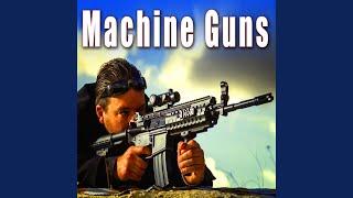 Machine Gun Fire with Bullet Ricochet off Dirt