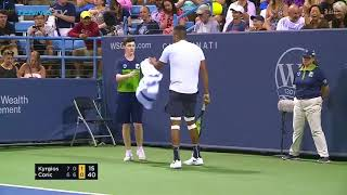 Hot Shot: Leaping Kyrgios Crushes Forehand