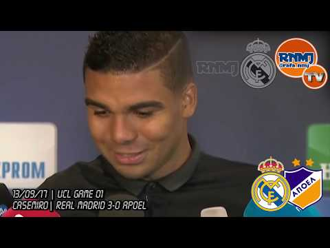 Declaraciones de CASEMIRO post Real Madrid 3-0 Apoel de Champions League (13/09/2017)