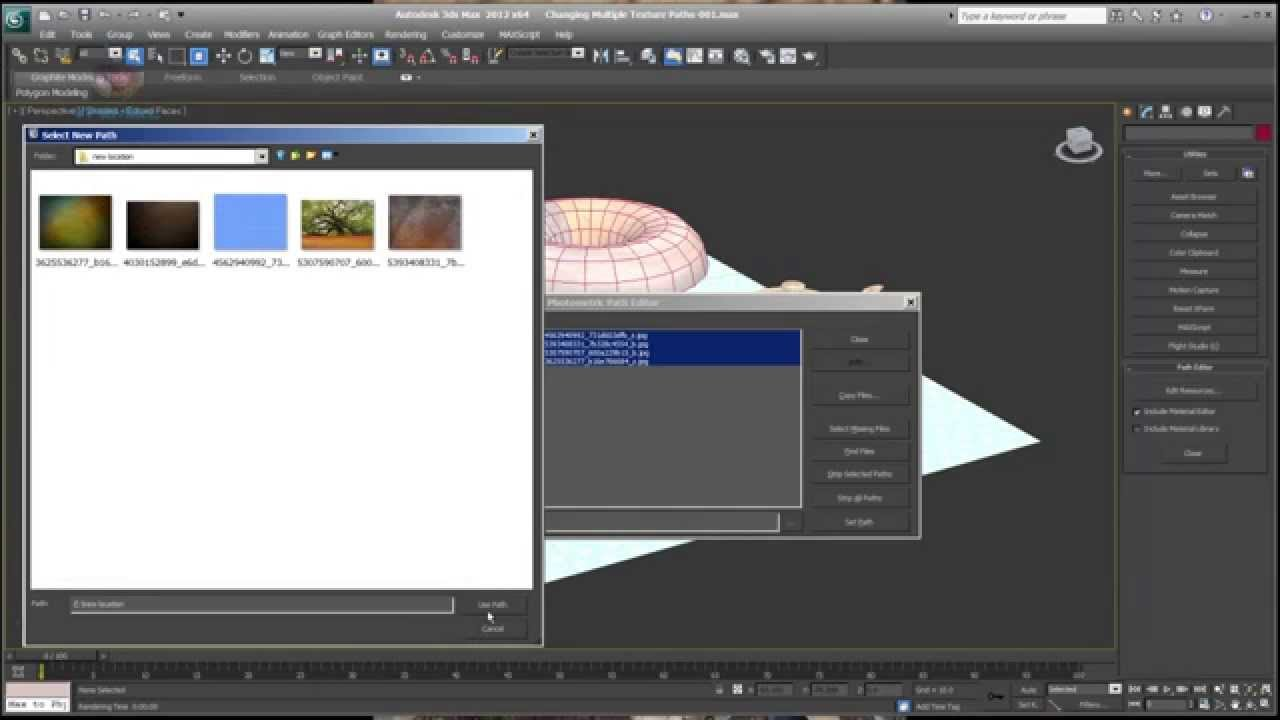 Changing Multiple Texture Paths in 3ds Max - vfxmill