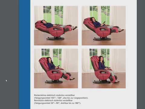 massagesessel komfort deluxe bedienungsanleitung youtube. Black Bedroom Furniture Sets. Home Design Ideas
