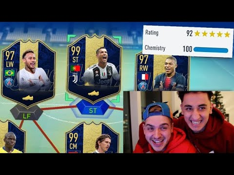 OMG! FULL TEAM OF THE YEAR 192 HIGHEST RATED FUT DRAFT CHALLENGE - FIFA 19 TOTY thumbnail