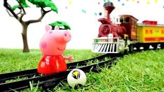 Peppa Juegos: Peppa Pig 🐷está atascada en el ferrocarril. Vídeos educativos de una conducta ejemplar