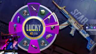 8000 UC Scarl Skin  Lucky Spin PUBG Mobile |  Crate Opening