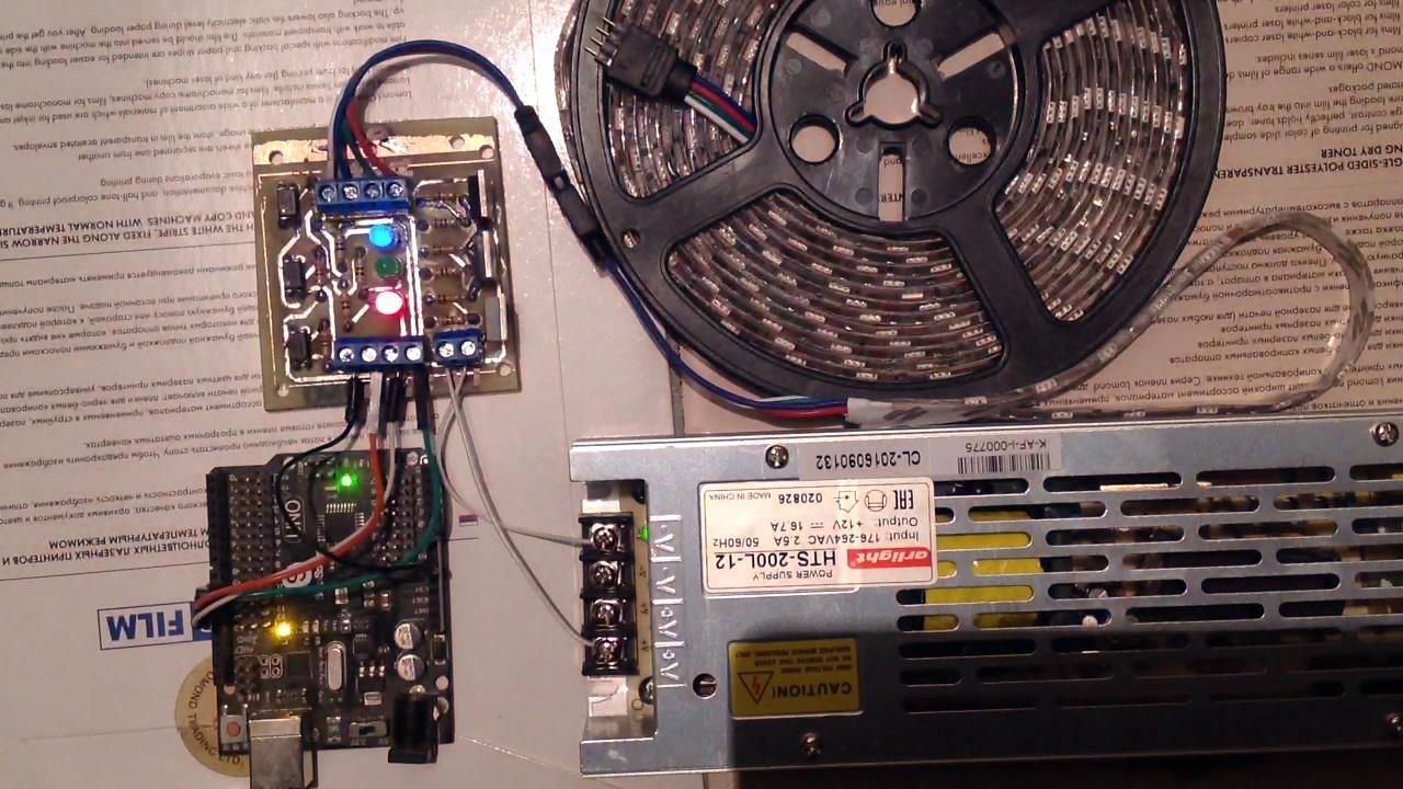 Arduino esp rgb led strip v driver diy youtube