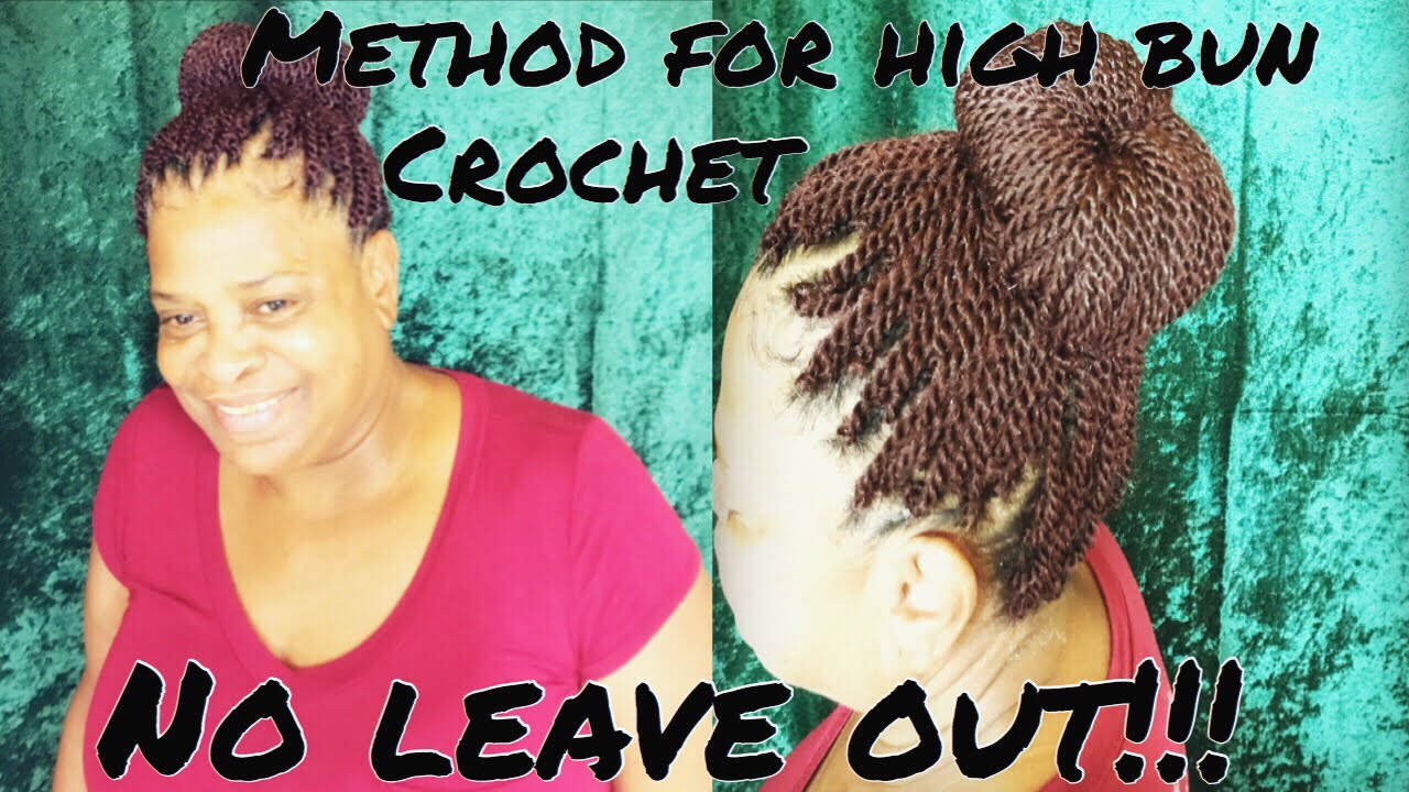 Crochet Braids Micro Twist No Leave Out With High Bun Youtube