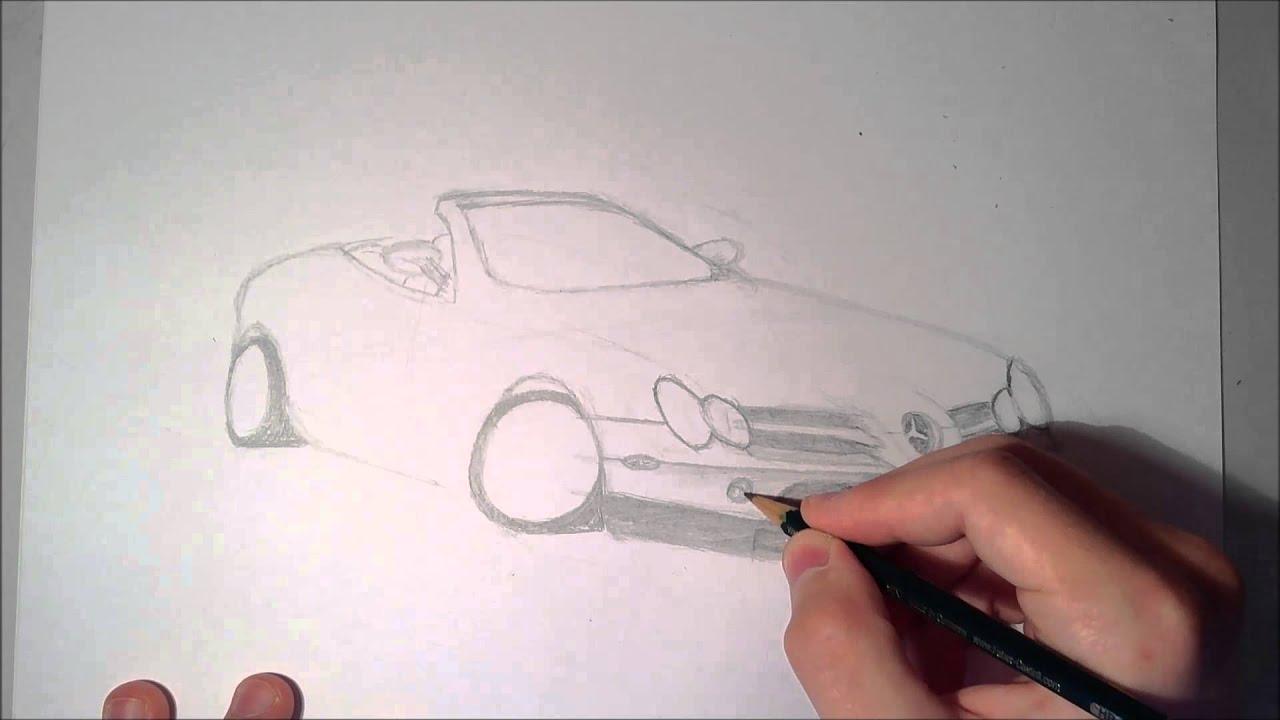 Zeichnen Lernen Mercedes Benz SLR McLaren - YouTube