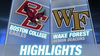 Boston College vs Wake Forest | 2014 ACC Football Highlights