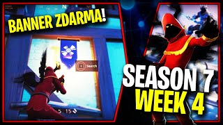WHERE is the SECOND FREE BANNER for the SEASON 7 (Week 4)-Fortnite Battle Royale CZ/SK