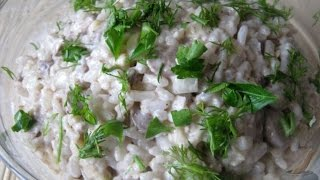 Салат с рисом и печенью Дуэт  Рецепт салат