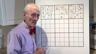 Sudoku tutorial #67 The XY wing and Y wing.  Are they the same?