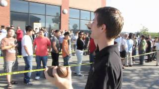 First Swag Run 9am Outside NCIX First Markham Place Store Grand Opening Linus Tech Tips