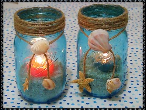 Vasijitas de mar decoraci n para el hogar manualidades for Decoracion artesanal para el hogar