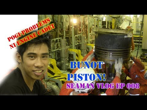 Main Engine Piston Decarb / Kwentong Breaktime | Seaman VLOG