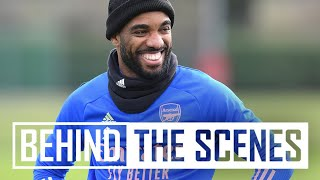 Laca's perfect free-kicks and Partey's long-rangers | Behind the scenes at Arsenal Training Centre