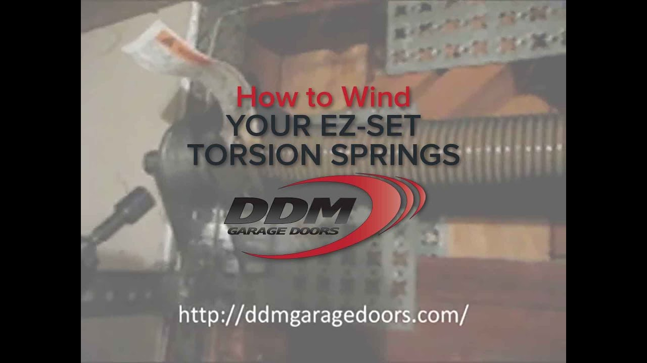 How to wind your ez set torsion springs youtube how to wind your ez set torsion springs rubansaba