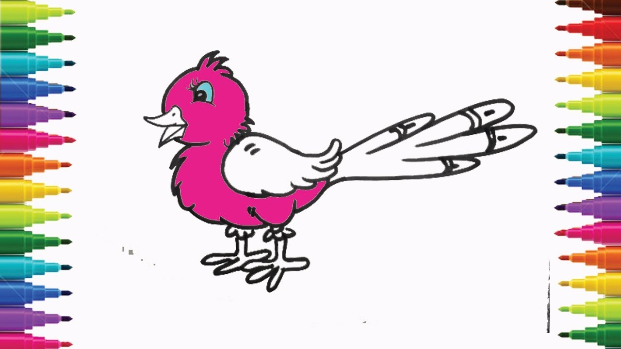 How To Draw Cute Bird Step By Step For Kids Easy Lesson Art Tutorial
