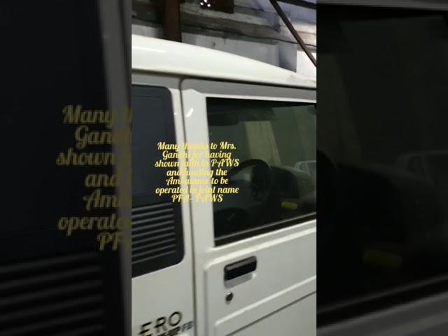 The Wonder Ambulance of PFA--PAWS!