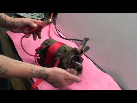 PS654 Winch Motor Test - YouTube