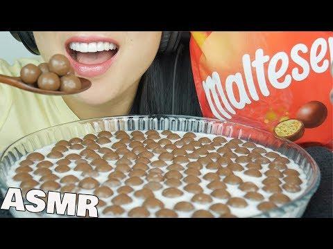 ASMR MALTESERS CHOCOLATE BALLS And MILK (CRUNCHY EATING SOUNDS) | SAS-ASMR