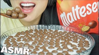 ASMR MALTESERS CHOCOLATE BALLS and MILK (CRUNCHY EATING SOUNDS) | SAS-ASMR