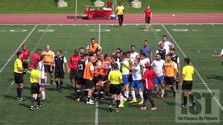 LATE TACKLE, PLAYER KICKED, JUDO THROW, BENCHES CLEAR, PISSED OFF SPECTATOR!!