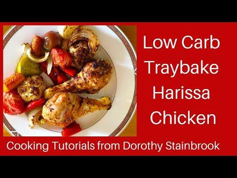 Low Carb & Keto Harissa Chicken Traybake - Cooking Tutorial