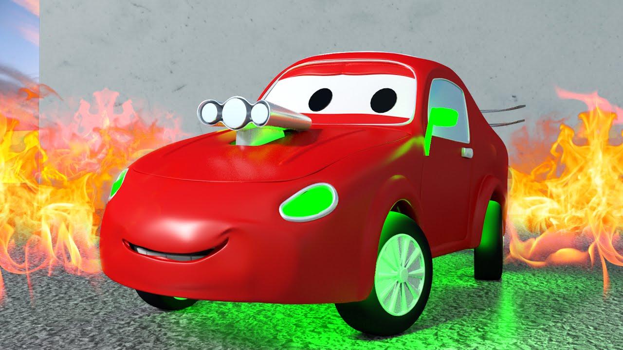 Jerry la voiture de course - Tom la Dépanneuse dans la ...