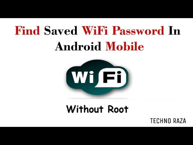 how to view saved wifi passwords