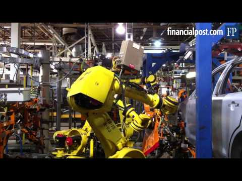 Robots at Ford auto assembly plant