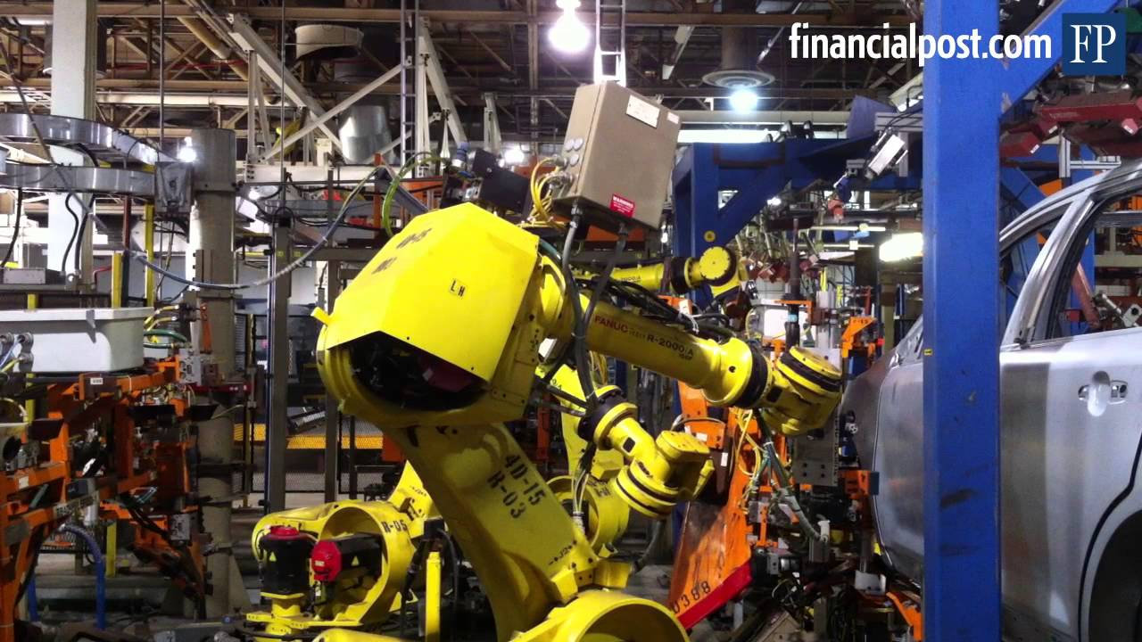 Robots At Ford Auto Assembly Plant Youtube