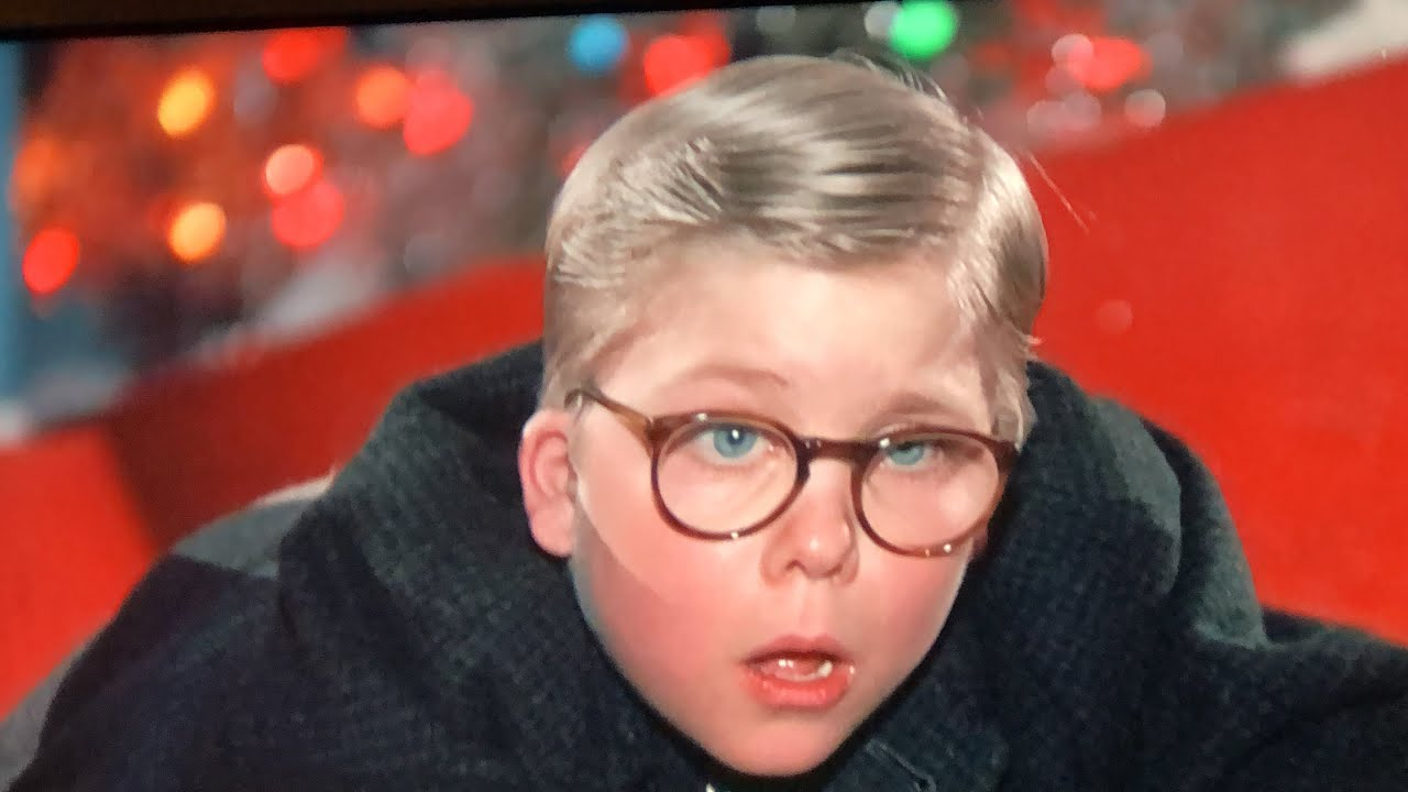 Christmas Story.A Christmas Story Ralph Asks Santa Claus For A Red Ryder Bb Gun
