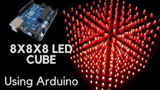 How to make 8x8x8 LED CUBE using arduino