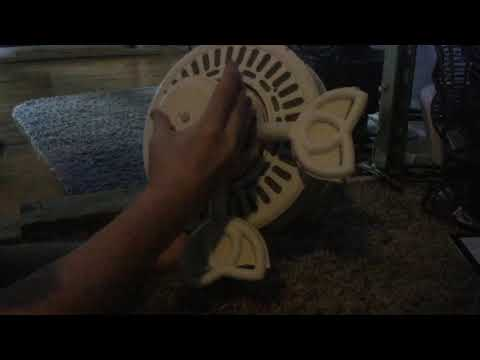 Cleaning the 2 Hampton Gazebos ceiling fans part 1