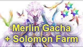 FGO NA: Merlin Gacha + Solomon Farm!