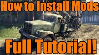 Spin Tires | How To Install Mods and Maps! Full Tutorial from Start to Finish