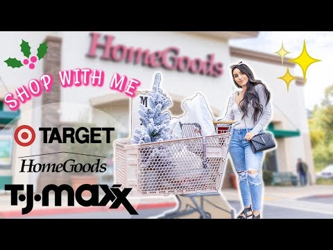 NEW CHRISTMAS SHOP WITH ME! HomeGoods, Target, TJMaxx 2019