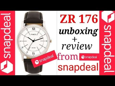 ZR176(timex) Analog Watch Unboxing + Review .FROM SNAPDEAL