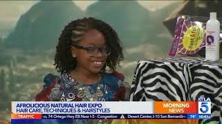 Afrolicious Natural Hair Expo With Founder Rwanda Ray  KTLA2
