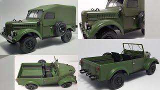 ГАЗ-69 Легендарные советские автомобили Hachette. Масштабная модель автомобиля 1:24. / Видео