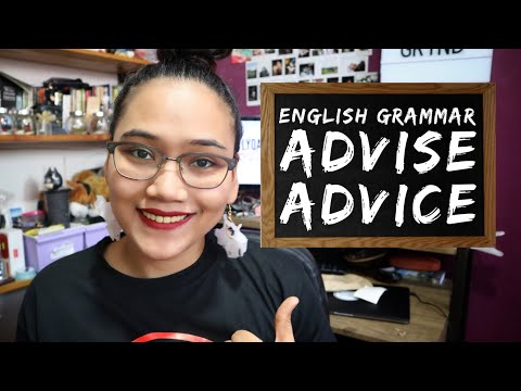English Grammar: Advise Advice - Homonym Horrors - Civil Service Exam Review