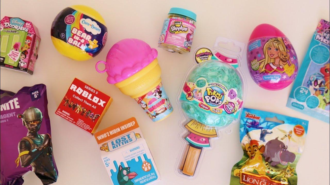 Toy unboxing Fortnite, Pikmi Pop, Lost kitties, Roblox, Smooshy Mushy, Barbie