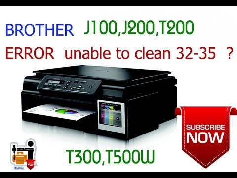 brother printer error unable to unit clean 31 32 35 youtube rh youtube com Printer Guides Engineering brother printer troubleshooting user guide dcp-j100