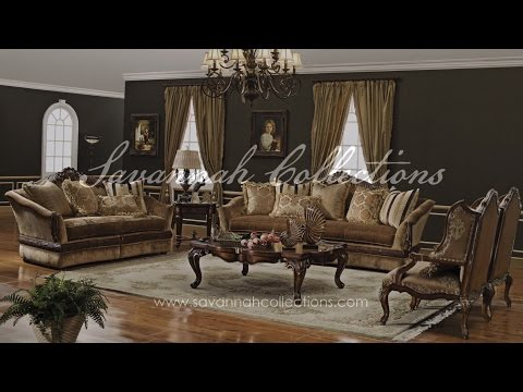 Victorian Living Room Collection by Savannah Collections - Baker Furniture