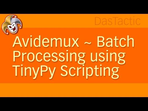 AviDemux ~ Batch Processing using TinyPy Scripting
