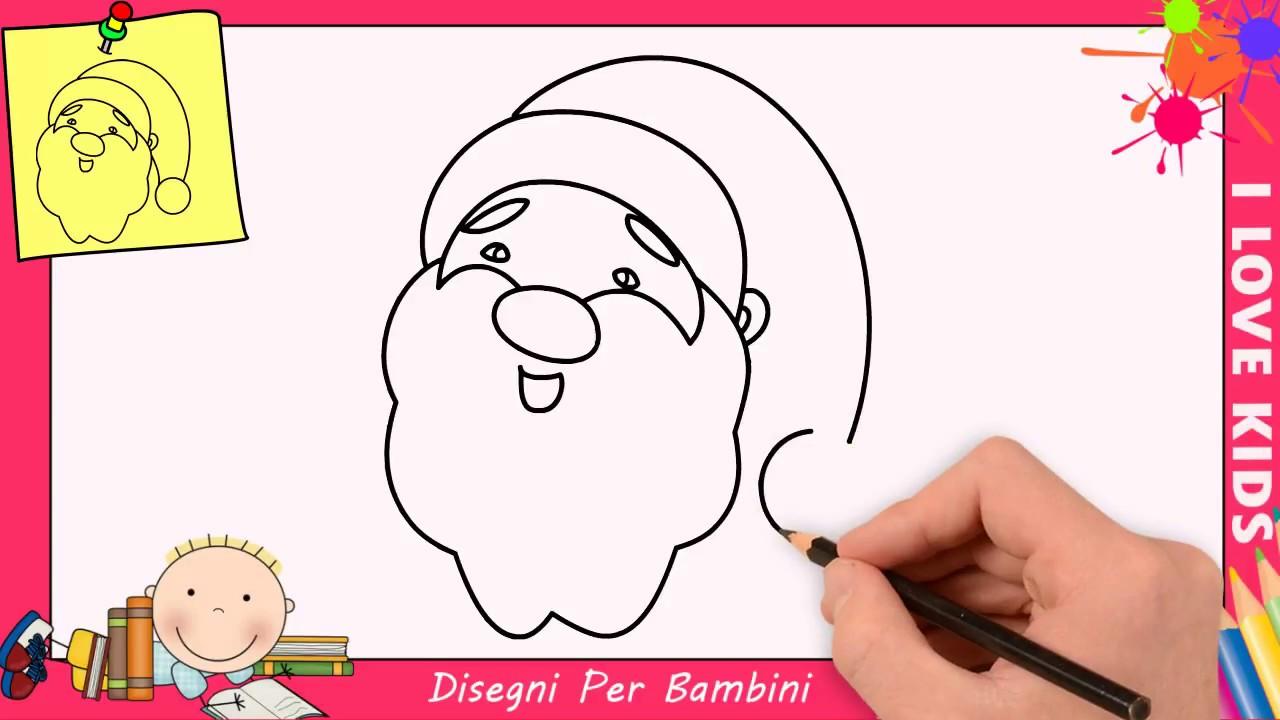 Come Disegnare Babbo Natale Facile Passo Per Passo Per Bambini 1